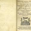 Elenchus Vegetabilium et Animalium; Bild 0