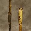 Dolchmesser aus Eisen und Gold; Bild 2
