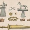 Zierbeil mit Reiterfigur; Bild 3