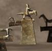 Zierbeil mit Reiterfigur; Bild 0