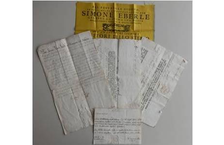 Dokumente und eine Ankündigung aus dem Splitternachlass Simon Eberle; Foto: NHM Wien