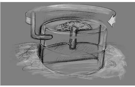 Handdrehmühle; Foto: A. Pecher, NHM Wien