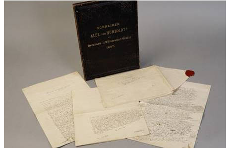 Material: Handschrift, Tusche und Papier, Absender: Alexander von Humboldt