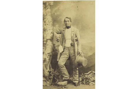 Josef Mann (1804-1889), Visitkarten-Portrait,  Hist. Portraitsammlung, Lepidopterasammlung, NHMW