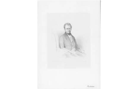 Marie Troll geb. Krafft, Stephan Ladislaus Endlicher, Lithographie, Wien vor 1840; Foto: NHM Wien