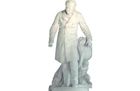 1.Alexander von Humboldt von R. Weyr, Hauptstiegenhaus; Foto: A. Schumacher, NHM Wien