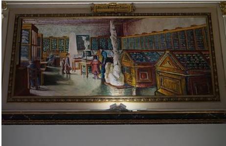 Technik: Aquarell, Künstler: Eduard Ameseder ( 1856 – 1938); Neuanfertigung nach Verlust durch  Fahrid Sabha 1983/84