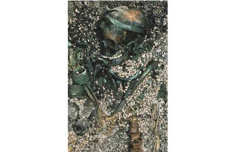 Grabfoto von Grab 110 aus Franzhausen; Foto: BDA