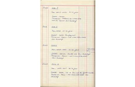 Inventarbucheintrag Osteologische Sammlung; Foto: NHM Wien