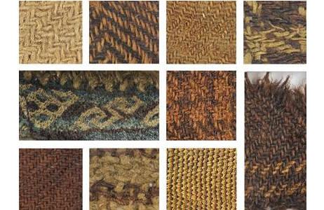 Farbenfrohe Textilfunde aus dem Salzbergwerk Hallstatt, 800-400 v. Chr.