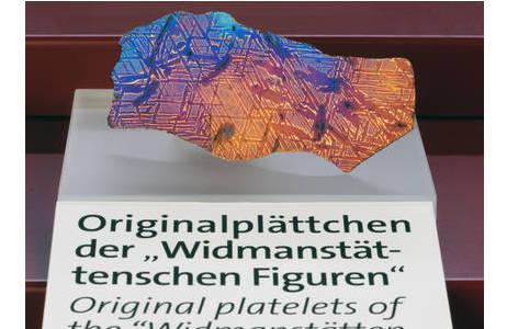 Widmanstättensche Figuren (A5a): Foto: A. Schumacher, NHM Wien