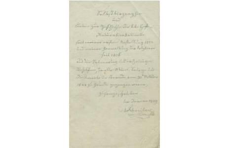 Technik:  Handschrift, Bleistift, Künstler:  Carl von Schreibers (1775 – 1852)
