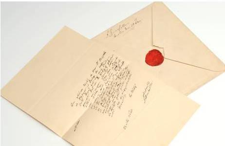 Bild 2: Persönlicher Brief von dem Naturforscher Alexander von Humboldt.