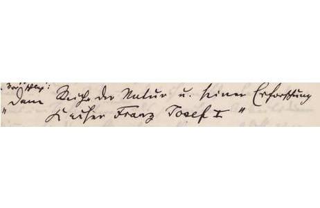 """Eintrag im Tagebuch von 1876 – 1884,  """"Dem Reiche der Natur u, seiner Erforschung Kaiser Franz Joseph I."""", 26. November 1880; Foto: NHM Wien"""