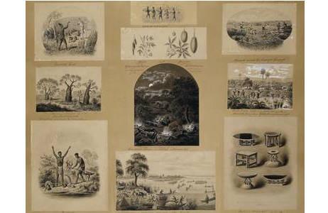 """Emil Holub, Vorlage für Holzschnittillustrationen in """" Von der Capstadt ins Land der Maschukulumbe"""",vor 1890; Foto: NHM Wien"""
