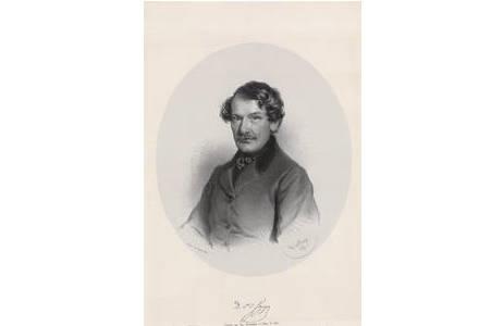 Adolf Dauthage, Dr. J.L. Fitzinger, Lithographie, Wien 1859; Foto: NHM Wien, Archiv f. Wissenschaftsgeschichte