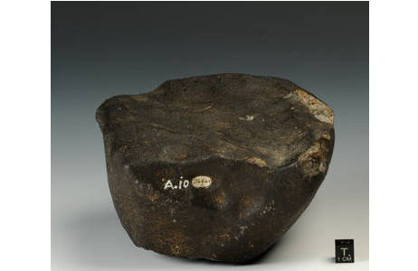 Steinmeteorit Tabor (A10): Foto: A. Schumacher, NHM Wien