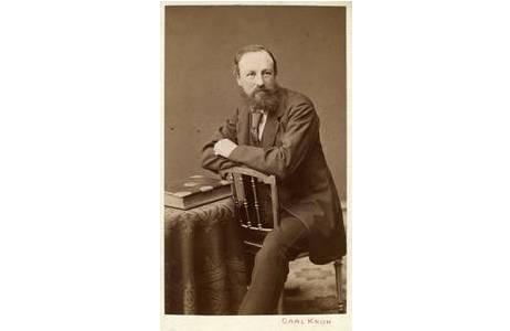 Kustos Alois Rogenhofer im November 1876; Foto: NHM Wien, Archiv für Wissenschaftsgeschichte