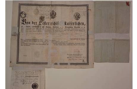 """""""Reisepass"""", Druck und Handschrift, 29.12. 1835 – 03.10. 1843; Foto: NHM Wien"""