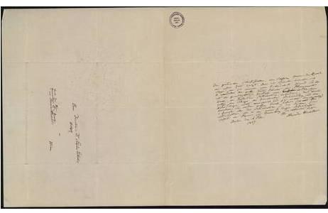 Brief von Alexander von Humboldt an Stephan Ladislaus Endlicher 16.02.1837, Tusche; Foto: NHM Wien