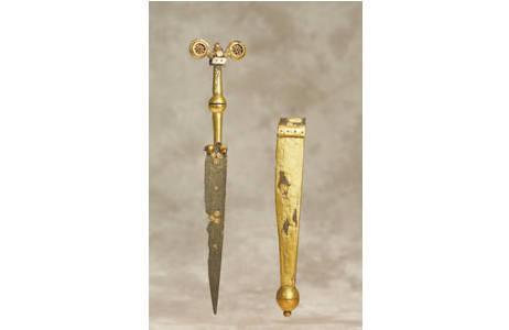 Dolchmesser aus Eisen und Gold (PA25810)