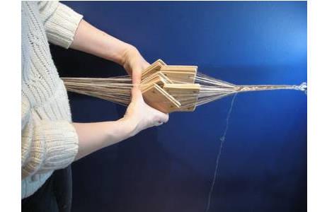 Bandweben mit quadratischen Brettchen