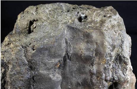 """Detailansicht des Oberteils des Schwarzen Rauchers mit den Austrittsöffnungen des """"Rauches""""; Foto: A. Schumacher, NHM Wien"""