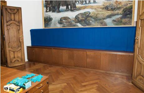 Abgedeckte menschliche Überreste in der Anthropologischen Abteilung, deren Repatriierung diskutiert wird.; Foto: W. Reichmann, NHM Wien