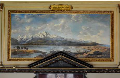 Südliche Alpen auf Neu Seeland von der Westküste aus von Adolf Obermüllner im Saal VII