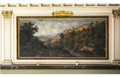 Gemälde Opalgruben bei Czerwenitza, Ungarn von C. Hasch; Foto: A. Schumacher, NHM Wien