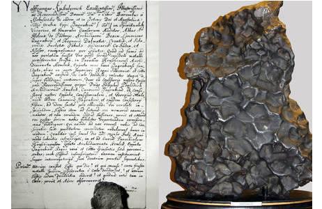 Eisenmeteorit Hraschina (A2): Foto: L. Ferrière, NHM Wien