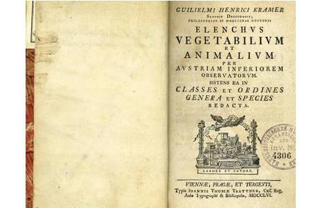 Titelblatt; Foto: Exemplar botanische Abteilungsbibliothek, NHM Wien
