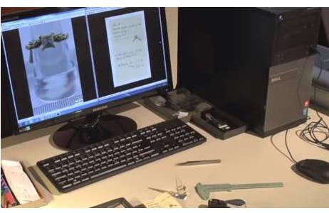 Das Messen von Größe und Gewicht eines Objekts, das Scannen der Labels und eine detailgenaue Beschreibung jedes Objekts, gehören zur umfangreichen Digitalisierung; Foto: H. Momen, NHM Wien
